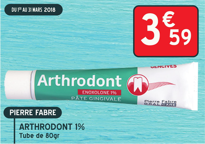 ARTHRODONT 1% PATE GINGIV TUB 80G