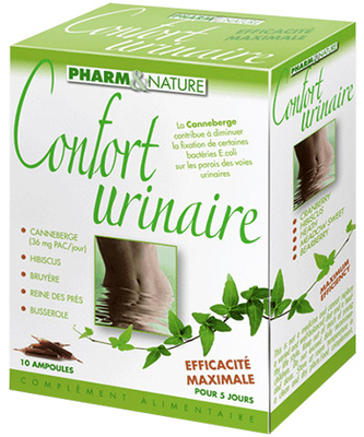 PHARM&NATURE CONFORT URINAIRE  B/10 AMP