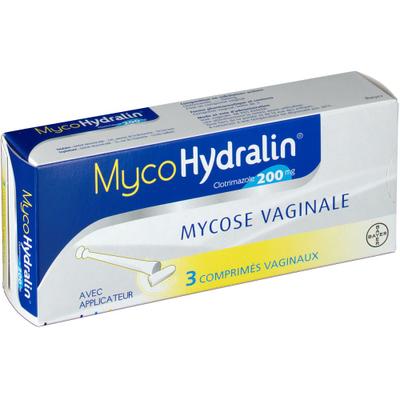 MYCOHYDRALIN 200MG comprimés vaginaux boîte 3