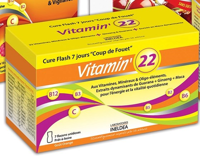 INELDEA VITAMIN'22 Goût orange B/7Flacons