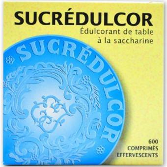 SUCREDULCOR Edulcorant de table à la saccharine 600 cps effervescent