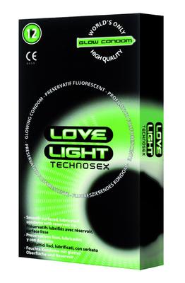 Préservatifs fluorescents boîte 12