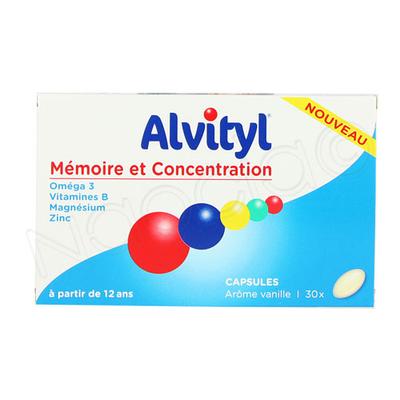 ALVITYL Mémoire et Concentration capsules boîte de 30