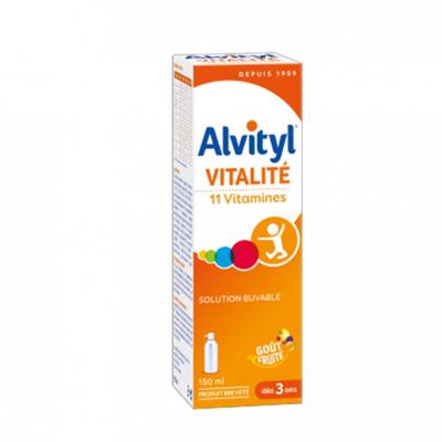ALVITYL Vitalité solution buvable multivitaminée goût fruité dès 3ans flacon 150ml