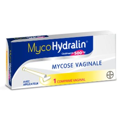 MYCOHYDRALIN 500MG comprimé vaginal boîte 1