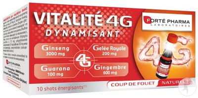 VITALITE 4G DYNAMISANT 10 shots énergétiques