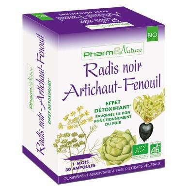 PHARMNATURE radis noir artichaut-fenouil 10 ampoules