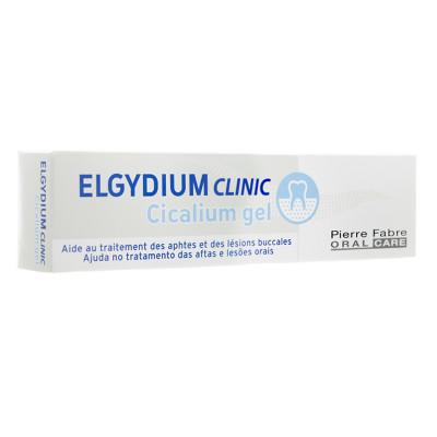 ELGYDIUM Clinic Cicalium gel d'aide au traitement des aphtes et lésions buccales tube 8ml