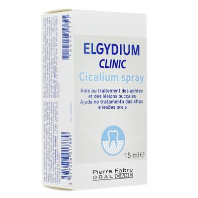 ELGYDIUM Clinic Cicalium spray d'aide au traitement des aphtes et lésions buccales flacon 15ml