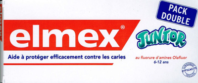 ELMEX JUNIOR DENTIFRICE 2x75ML