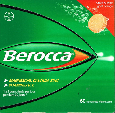 BEROCCA 60 CPR EFFERVESCENTS S/S
