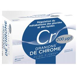 GRANIONS DE CHROME 30 AMPOULES BUVABLES