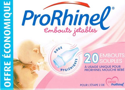PRORHINEL 20 EMBOUTS JETABLES