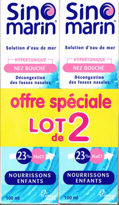 SINOMARIN LOT 2 BEBE ENFANT SOL LAVAG NAS 100ML