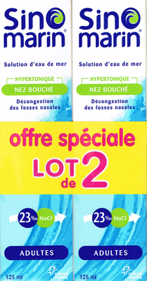 SINOMARIN LOT 2 ADULTE SOL LAVAG NAS 125ML