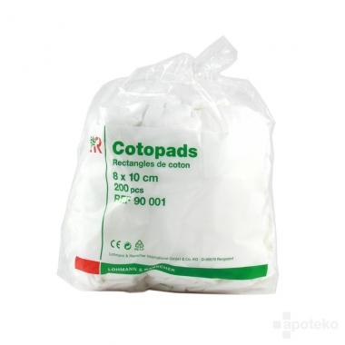 COTOPADS LOHMAN 200 RECT COTON  8X10CM