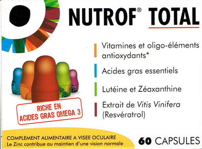 NUTROF TOTAL 60 CAPS