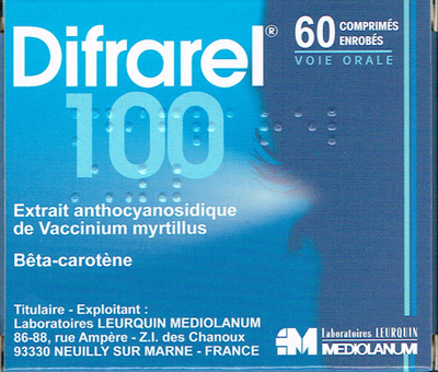 DIFRAREL 100MG CPR 60
