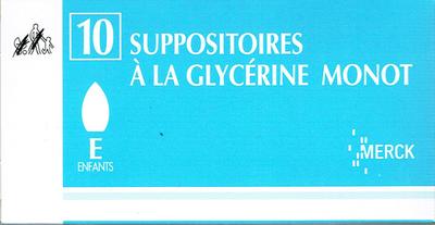 GLYCERINE SUPPO ENF MONOT 10