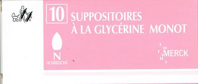 GLYCERINE SUPPO BEBE MONOT 10