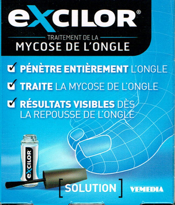 EXCILOR SOL ONGLE VERNIS FL 3,3 ML