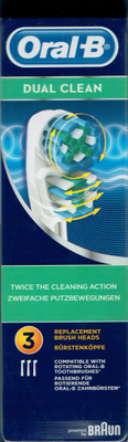ORAL-B BROS EB417 DUAL ACTIONX3