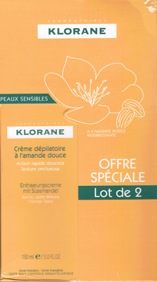 KLORANE CR DEPILATOIRE 150ML X2