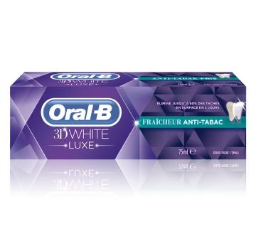 ORAL-B 3D WHITE LUXE FRAÎCHEUR ANTI-TABAC