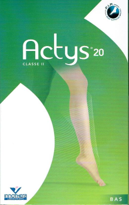 BAS ACTYS20 BEIGE TAILLE 4 COURT