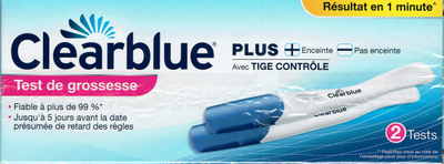 CLEARBLUE PLUS 2 TESTS GROSSESSE