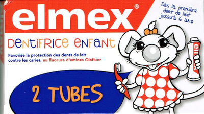 ELMEX ENFANT DENTIFRICE LOT2x50ML