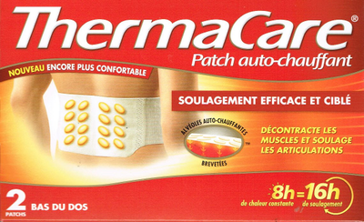 THERMACARE 2 PATCHS CHAUFF DOS