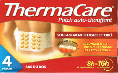 THERMACARE 4 PATCHS CHAUFF DOS