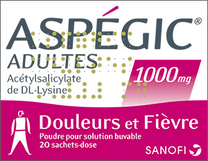 ASPEGIC 1 000MG ADULTE 20 SACHETS