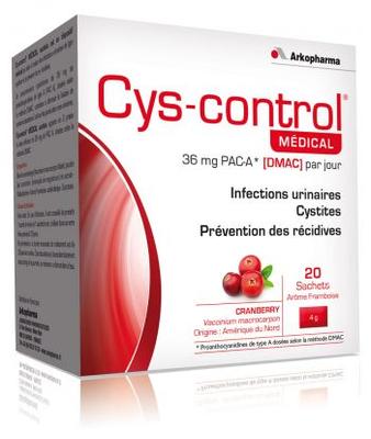 CYS-CONTROL 20 SACHETS FRAMBOISE