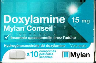 DOXYLAMINE 15MG MYLAN 10 CPR SEC