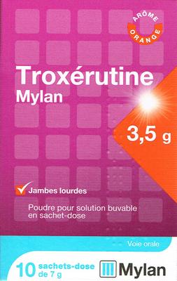 TROXERUTINE 3,5G MYLAN 10 SACHETS