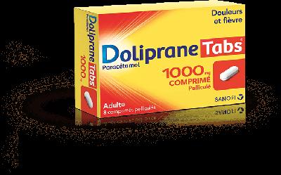 DOLIPRANE TABS 1000MG 8 CPR PEL