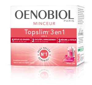 OENOBIOL TOPSLIM 3EN1 FRAMBOISE 14 STICKS