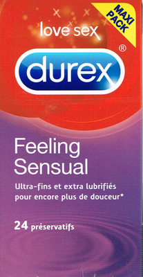 DUREX 24 PRESERVATIFS FEELING SENSUAL