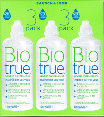 BIOTRUE SOL MULTIF LENTIL PACK 3X300ML