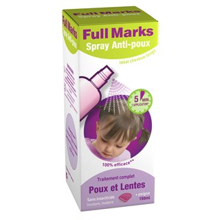 FULL MARKS SPRAY ANTI-POUX 150ML+PEIGNE