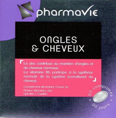PHARMAVIE ONGLES ET CHEVEUX 60 COMPRIMES