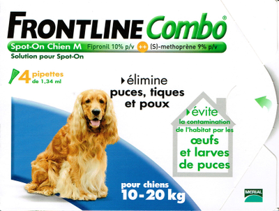 FRONTLINE COMBO CHIEN10-20KG 4 PIPETTES