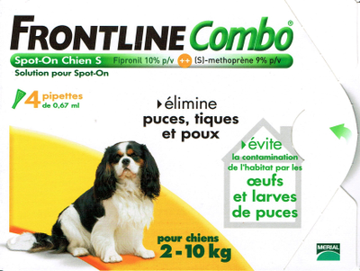 FRONTLINE COMBO CHIEN 2-10KG 4 PIPETTES