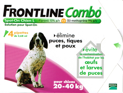 FRONTLINE COMBO CHIEN20-40KG 4 PIPETTES