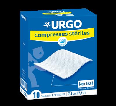 URGO COMPRESSES STERILES NON TISSEES 7,5X7,5 BT 10
