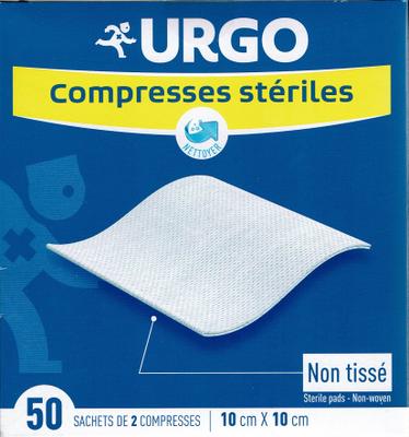 URGO COMPRESSES STERILES NON TISSEES 10X10 BT 50