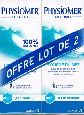 PHYSIOMER SOL JET DYNAMIQUE 2x135ML