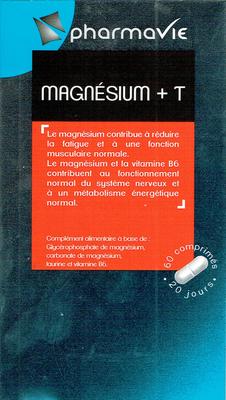 PHARMAVIE MAGNESIUM + T 60 comprimés